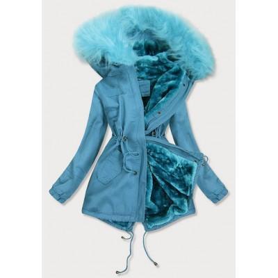 Dámska zimná bunda parka modrá (D-213-5)