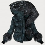 Dámska zimná bunda zelená (J9-004)