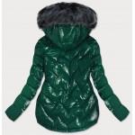 Prešívaná dámska zimná bunda zelená (B9540)