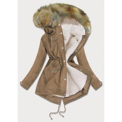 Dámska zimná bunda parka tmavobéžová (1998)