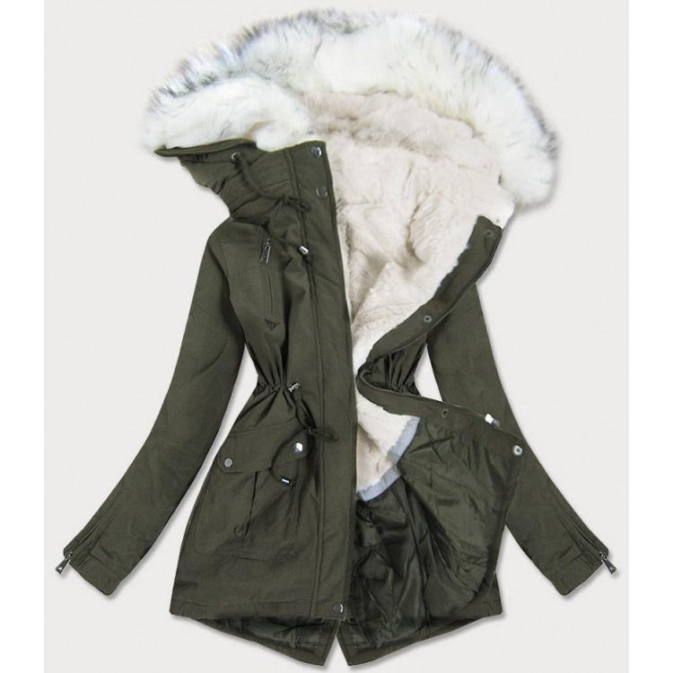 Dámska zimná bunda khaki  (FH-856)