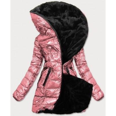 Dámska zimná bunda ružová (B9543-13)