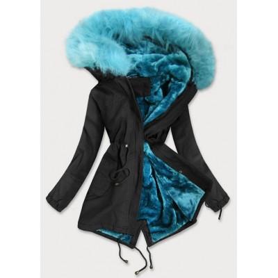 Dámska zimná bunda parka čierna  (D-196-3)