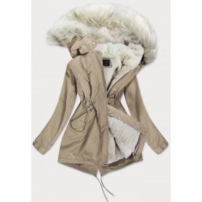Dámska zimná bunda béžová (GWW1996)