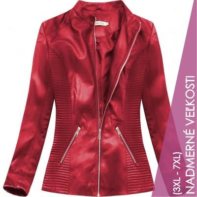 Dámska koženková bunda červená (TD2025)