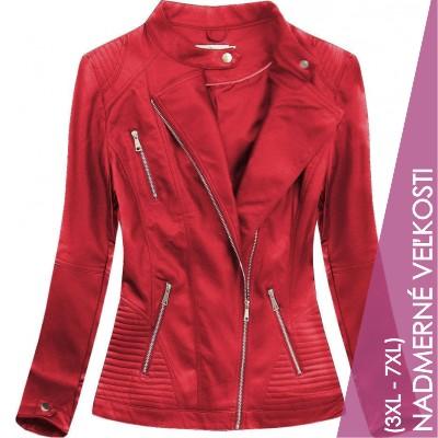 Dámska koženková bunda červená (TD1356)