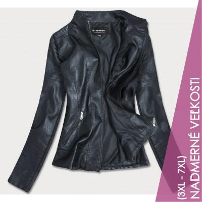 Dámska koženková bunda tmavomodra (B0115)