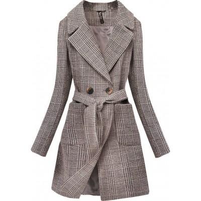 Dámsky klasický kabát hnedý (X2701-2X)