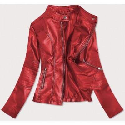 Dámska koženková bunda  červená (B0110)