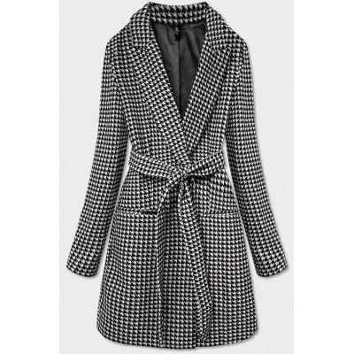 Dámsky kabát čierno-biely (2720)