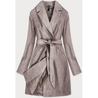 Dámsky kabát hnedý (2706)