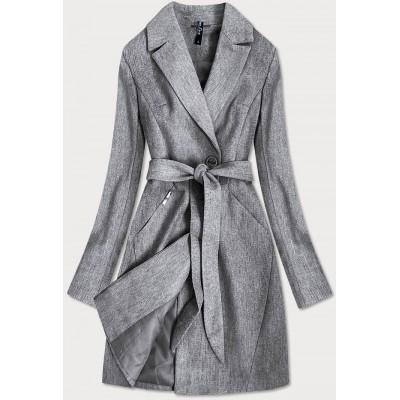 Dámsky kabát šedý (2706)