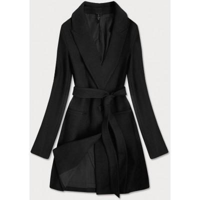 Klasický dámsky kabát čierny (2715)