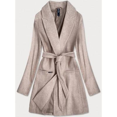 Klasický dámsky kabát béžový (2715)
