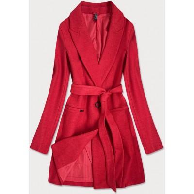 Klasický dámsky kabát červený (2715)