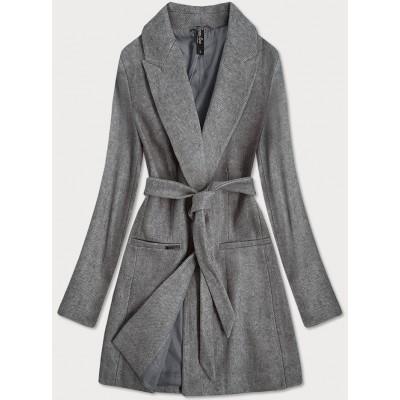 Klasický dámsky kabát šedý (2715)