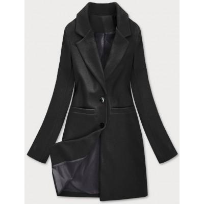 Klasický dámsky kabát čierny (25533)