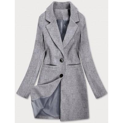 Klasický dámsky kabát šedý (25533)