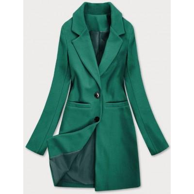 Klasický dámsky kabát zelený  (25533)