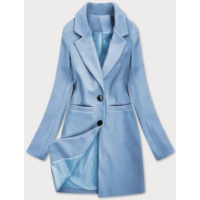 Klasický dámsky kabát modrý (25533)