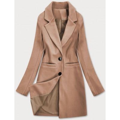 Klasický dámsky kabát hnedý (25533)