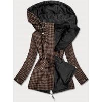 Obojstranná jarná bunda parka hnedo-čierna (W506)