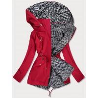 Dámska obojstranná jarná bunda červeno--biela (W507)