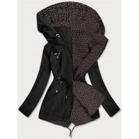 Dámska obojstranná jarná bunda čierno-hnedá (W507BIG)