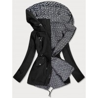 Dámska obojstranná jarná bunda čierno-biela  (W507BIG)