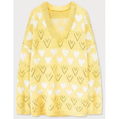 Dámsky sveter žltý (670ART)