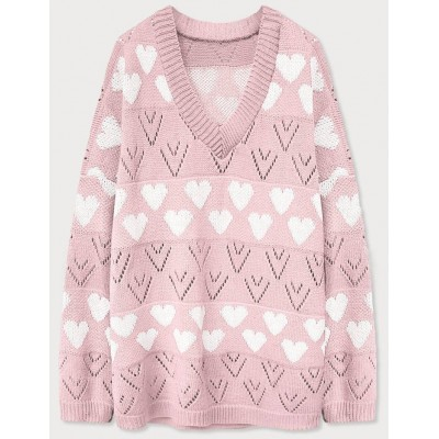 Dámsky sveter ružový (670ART)