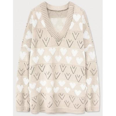 Dámsky sveter béžový (670ART)
