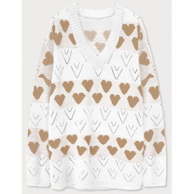 Dámsky sveter biely (670ART)