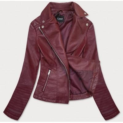 Dámska koženkovaá bunda borodvá  (R0113)