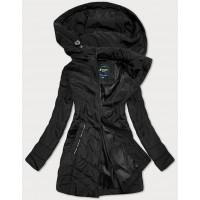 Prešívaná prechodná bunda čierna (6371)