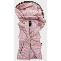 Prešívaná dámska vesta ružová  (6307)