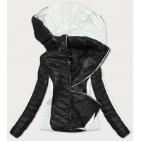Dámska dvojfarebná bunda čierna-ecru (6318)