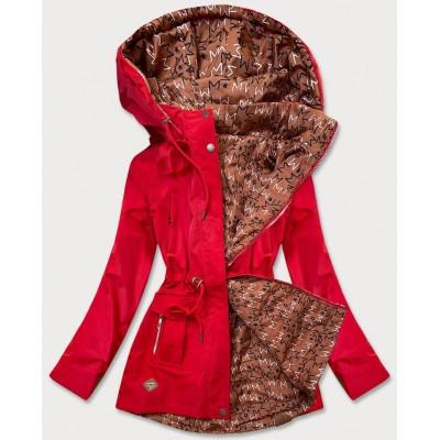 Dámska prechodná prešívaná obojstranná bunda červená (CAN-621)