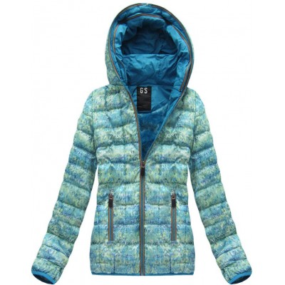 Dámska zimná bunda zeleno modrá(AH-MC01)
