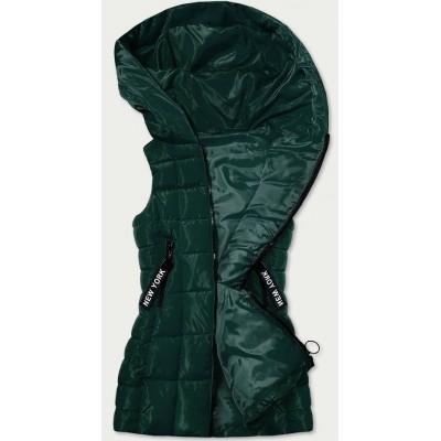 Dlhá dámska vesta zelená (B9579-10)