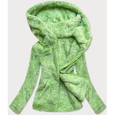Dámska plyšová mikina zelená HH010)