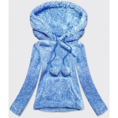 Dámska plyšová mikina  modrá (HH034)