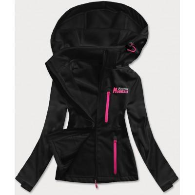 Dámska športová bunda typu softshell čierna HH028)