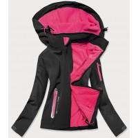 Dámska trekkingová bunda čierno-ružové (HH029)