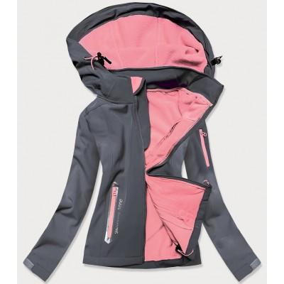 Dámska trekkingová bunda tmavošedo-ružová (HH029)