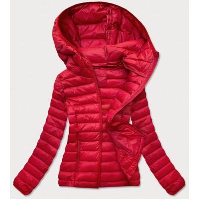 Prešívaná dámska prechodná bunda červená (20313)