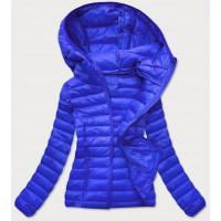 Prešívaná dámska prechodná bunda modrá (20313)