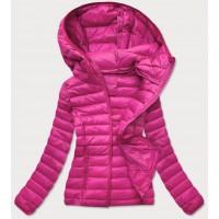 Prešívaná dámska prechodná bunda ružová  (20313)