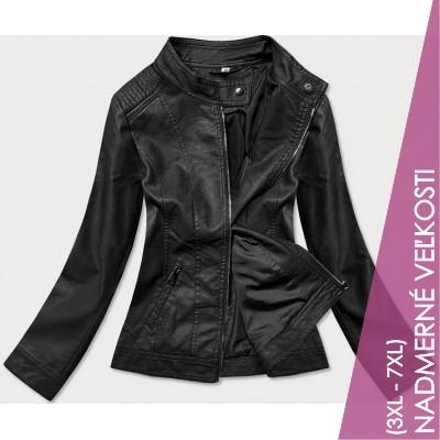 Dámska koženková bunda čierna (GV90-20)