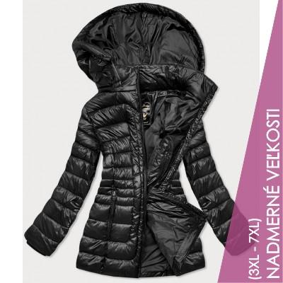 Dámska prechodná bunda čierna (7724PLUS)